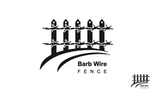 Barb Wire Fence Logo Design Template Road.