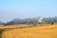 Farmland With A Country Church
