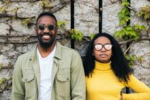 Beautiful Black Couple With Sunglasses Portrait