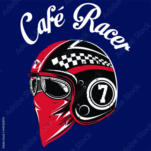 Canvas cafe racer wo Design vector illustration for use in canvas poster design and pri