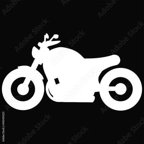 Fotografie, Obraz chopper custombike custom motorcycle motorbike sweat Design vector illustration