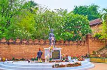 The Monument To Nan Thipchang, Wat Phra That Lampang Luang Temple, Lampang, Thailand