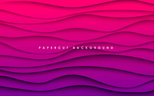 Abstract Purple Gradient Wavy Shape Background