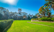 Blue Sky Over Famous Santa Barbara Sunken Gardens