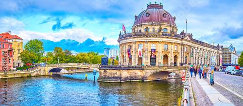 Slika na platnu Panorama of Bode Museum with the end of Museum Island, Berlin, Germany