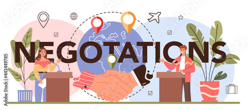 Fotografia International negotiations typographic header