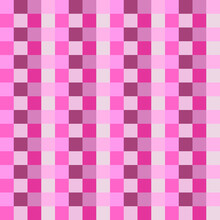 Checker Pink Squares Pattern. Vector Pink And White Color Squares.