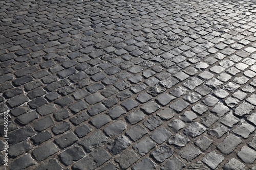 Canvas Print Stone pavement of Cologne, Germany