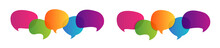 Colorful Speech Bubbles Vector Icon