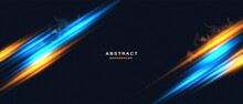 Abstract Technology Background With Motion Neon Light Effect.Vector Illustration.
