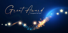 Victory Abd Award Design. Abstract Shining Background With Bokeh Effect.