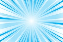 Abstract Blue Background With Sun Rays. Summer Vector Illustration