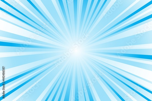 Abstract blue background with sun rays Fototapeta