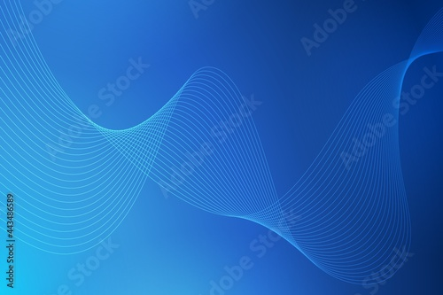 Fototapeta Abstract background with curved wavy lines
