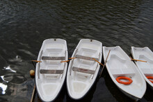 Boat For A Walk On The River, Boat Station, Boats In A Row.
