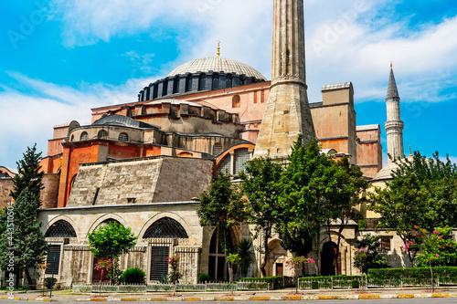 Canvastavla holy mosque of hagia sophia the grand in istanbul