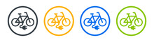 Electric Bike Icon. Bicycle Charging Sign Vector Illustration.