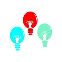 Colorful Children's Hot Air Balloon Logo Template Vector Icon