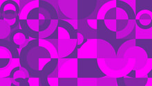 Abstract Geometric Mural Background With Purple And Pink Color