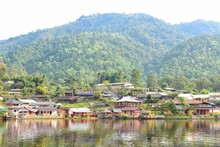 View Of Ban Rak Thai Village, Chinese Kuomintang Refugees Who Escaped The Communists In 1949, A Chinese Settlement In Mae Hong Son, THAILAND.