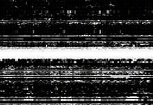 Screen With VHS Video Glitch Effect, Wide Distortion Line And Digital Pixel Noise. Vector Background With Bad TV Signal, Computer Screen Error, Damaged VHS Tape Or Videotape Static Noise Textures