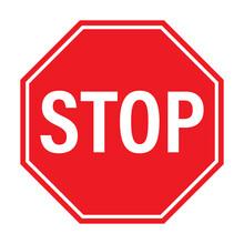 Stop Traffic Sign Icon Vector For Graphic Design, Logo, Web Site, Social Media, Mobile App, Ui Illustration
