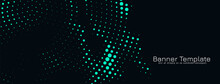 Abstract Green Halftone Design Banner Template