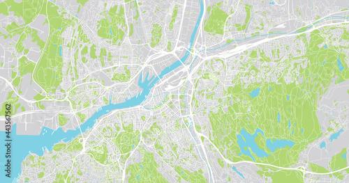 Fototapeta Urban vector city map of Gothenburg, Sweden, Europe