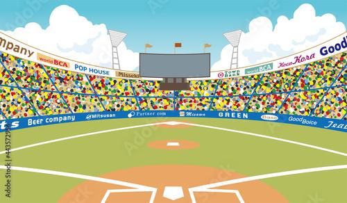 Foto 野球場 グラウンド イラスト