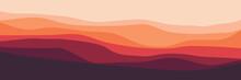 Minimalist Wave Pattern Landscape Vector Design For Background Template, Design Template And Wallpaper Design