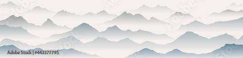 Fotografiet mountain art background vector