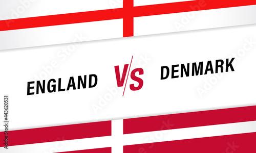 Tela England vs Denmark, Versus letters for football competition