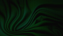 Rayon Fabric In Green. Pattern, Background.