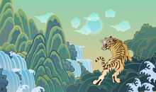 Oriental Painting Tiger Illustration 동양화 호랑이 일러스트 02