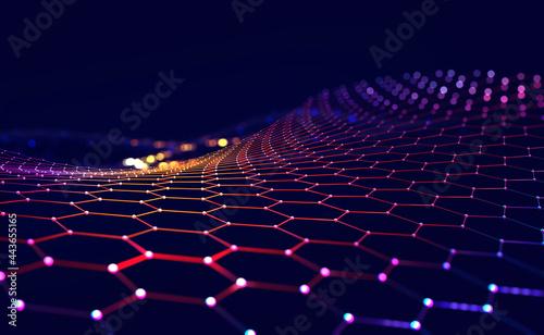 Obraz na plátně Cyber big data flow
