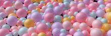 Abstrakter Header Hintergrund Mit Vielen Bällen In Pastell