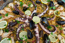 Paella. Photo During The Day In Vama Veche, Romania.