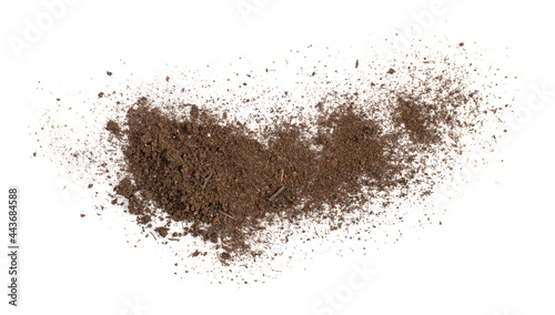 Fotografering Fertilized Dry Dirt Isolated, Dried Ground, Manure Soil