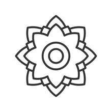 Dahlia Vector Line Icon Design