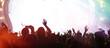 Summer festival concert crowd lights