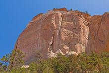 Imposing Sandstone Bluff In The Wilderness