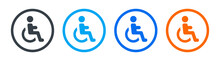 Wheelchair, Handicapped Access Sign Or Symbol Icon. Vector Illustration