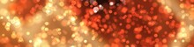 Abstract Light Bokeh With Orange Background