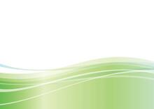 緑のウェーブ抽象背景