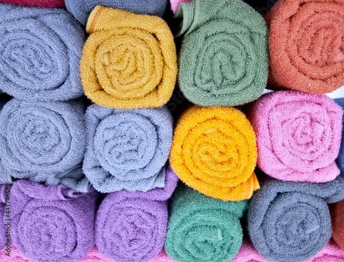 Obraz na plátne Close up photo of baht towel on sanitary shop