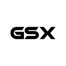 GSX Letter Logo Design With White Background In Illustrator, Vector Logo Modern Alphabet Font Overlap Style. Calligraphy Designs For Logo, Poster, Invitation, Etc.