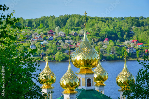 Canvas Cupola of the Orthodox church in Plyos, Ivanovo region