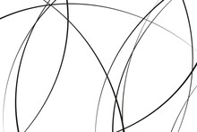 Intersection Of Lines. Abstract Geometric Pattern.