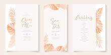 Wedding Invitation Card Template With Tropical Design