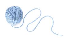 Knitting Yarn On White Background